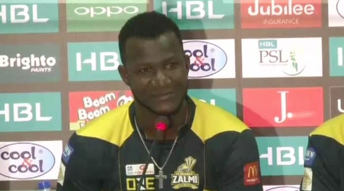 Sammy requests Karachi's Pashtuns to support Zalmi in PSL final