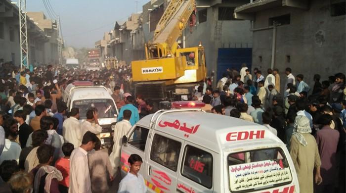 13 dead as roof of warehouse collapses in Sukkur