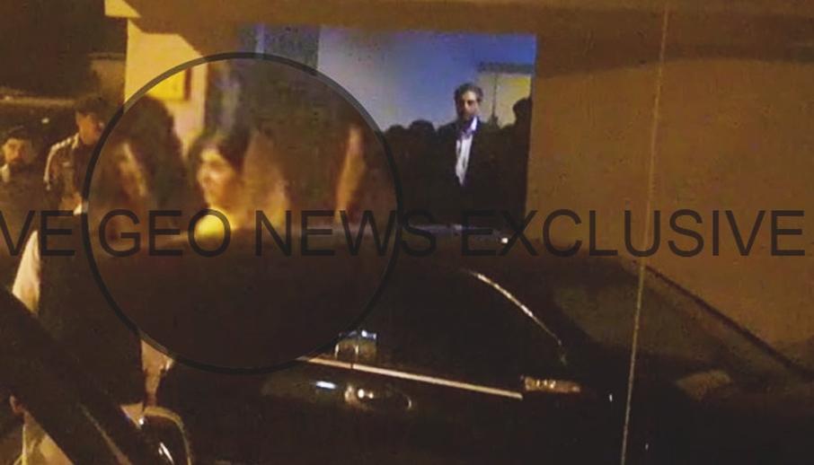 Malala Yousafzai, the Pakistani Nobel laureate and education activist, leaves the Benazir Bhutto International Airport for her hotel in Islamabad, Pakistan, March 29, 2018. Geo.tv via Geo News/Screenshot