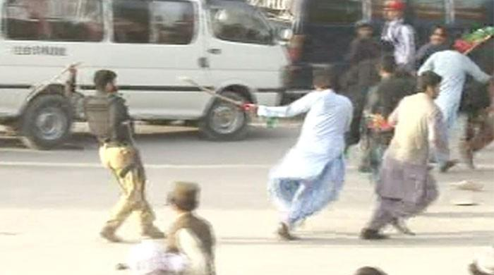 PTI workers clash upon Imran's arrival in Quetta