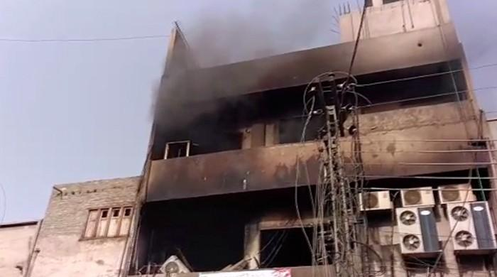 Second fire incident in Multan store in two days
