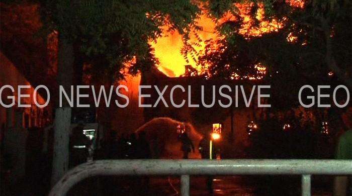 Fire ravages Karachi City Courts' property room