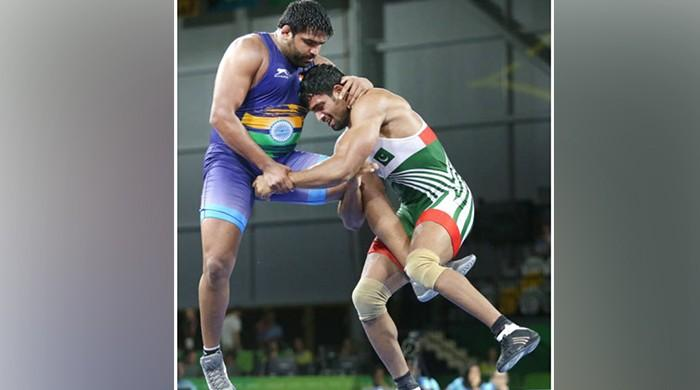 Pakistan's Tayyab Raza bags bronze in wrestling competition