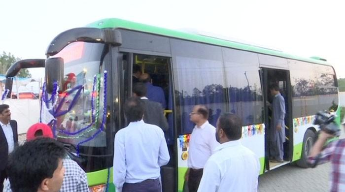 Air-conditioned bus service starts in Karachi