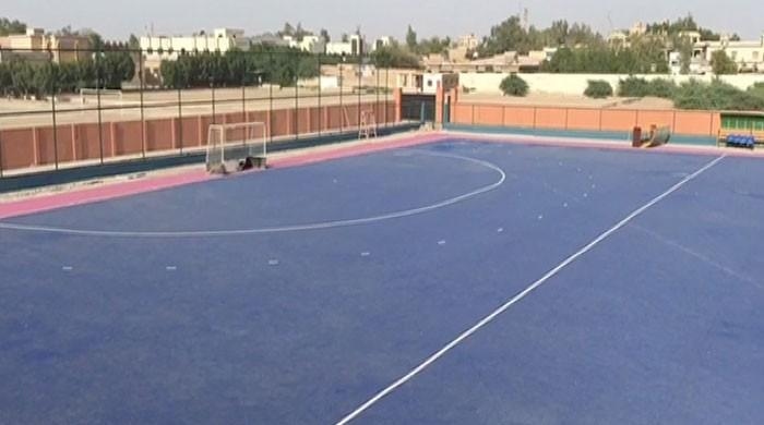Neglect leaves Nawabshah hockey ground's turf in rough condition