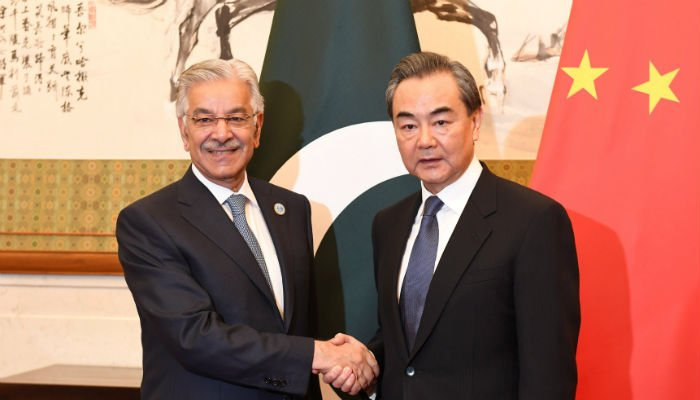 Khawaj Asif in Beijing to attend foreign ministers' meeting of SCO