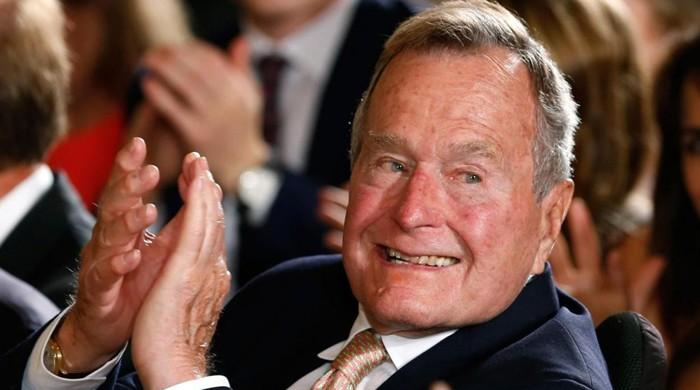George H.W. Bush hospitalised days after wife's death: office