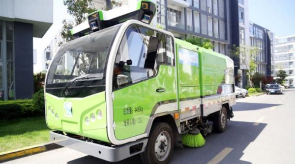 World's first driverless sweeper trucks on trial run