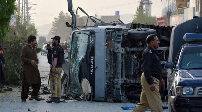 Bodies of five policemen martyred in Quetta suicide blast dispatched to hometowns