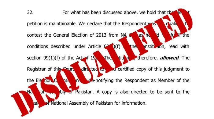 Read IHC order disqualifying Khawaja Asif