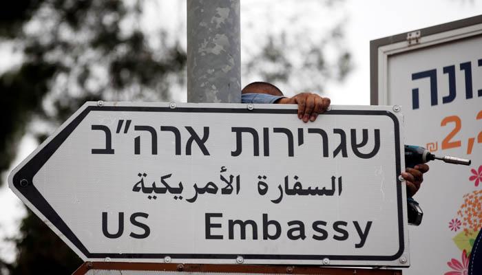 Jerusalem Puts Up US Embassy Road Signs Ahead Of Opening Next Week