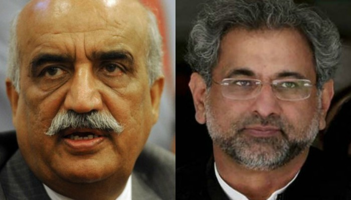 PM Abbasi, Khursheed Shah fail to agree on caretaker prime minister