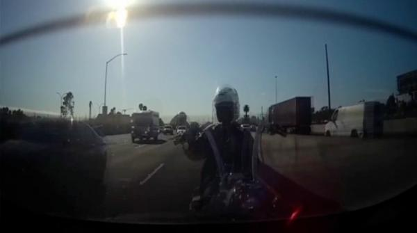 Carelessness jeopardises motorcyclist's life
