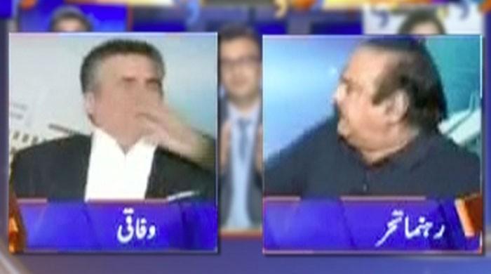 PTI's Naeemul Haq slaps Daniyal Aziz on programme 'Aapas Ki Baat'