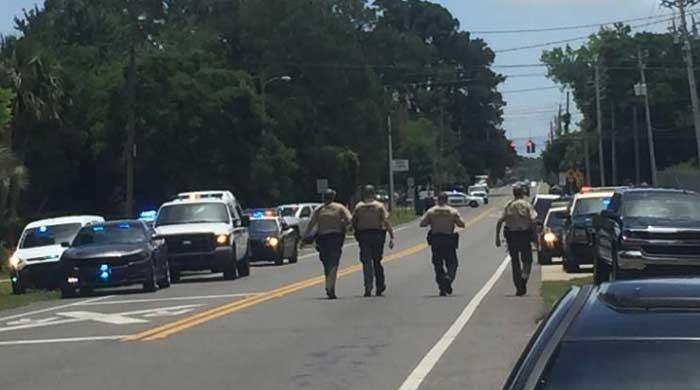 Police respond to an active shooting in Panama City