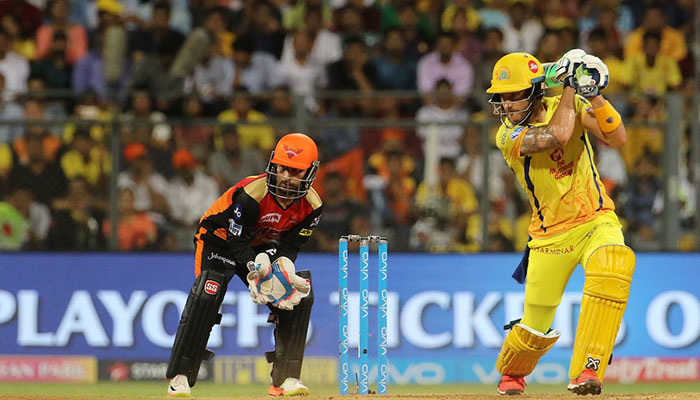 Faf du Plessis smashed an unbeaten 67 to lead Chennai Super Kings into the final
