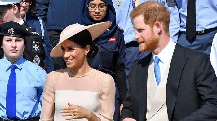 Prince Harry, Meghan Markle make first appearance since royal wedding