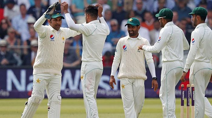 Haris departs after Pakistan resume batting at Lord's