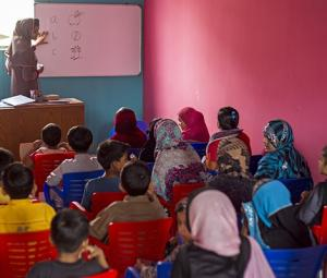 A classroom in Lyari for special children