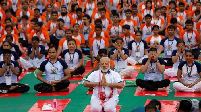 India PM Modi accepts fitness challenge but faces opposition backlash