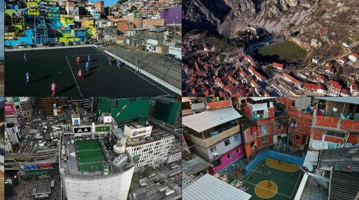 The weird to the wonderful— football pitches of the world