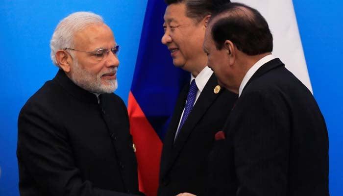 President Mamnoon, Modi shake hands at SCO Summit | World