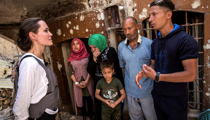 United Nations special envoy Jolie visits Syrian refugees in Iraq