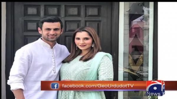 Mom-to-be Sania glows in Eid pictures with husband Shoaib