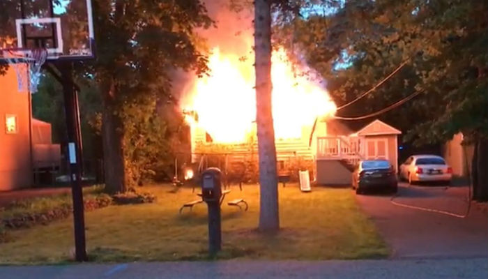A Pakistani-American family's house was gutted in a fire early Sunday morning.