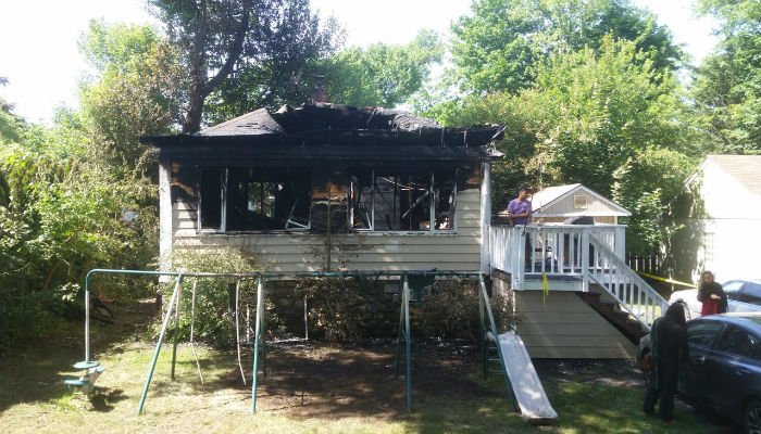 A Pakistani-American family's house was gutted in a fire early Sunday morning