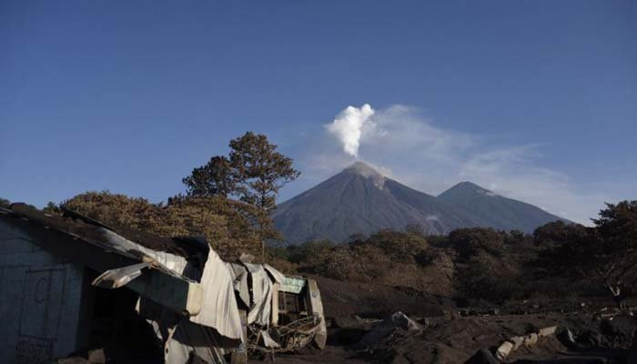 Guatemala's Fuego Volcano is seen emitting plumes of ash on June 1. Photo: AFP
