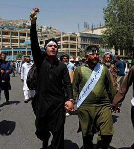 Afghan peace marchers arrive in Kabul exhausted and tired of war