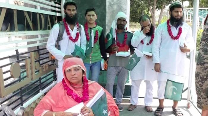 Woman, child among six Pakistani prisoners set free by India