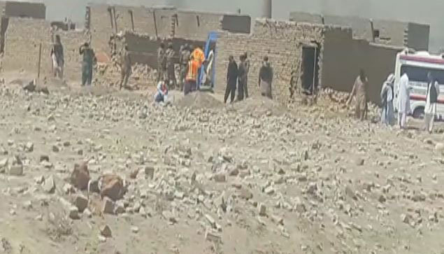 The site of the operation. Photos: Geo News