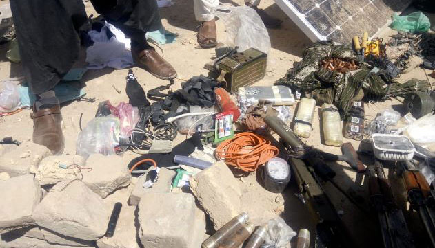 Items recovered from the terrorists' custody.