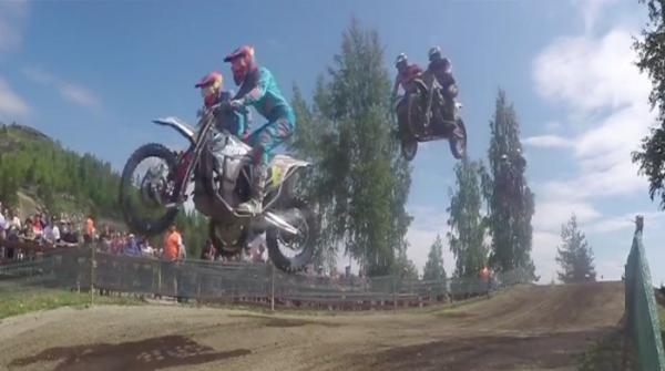 Expert bikers participate in Sidecarcross World Championship