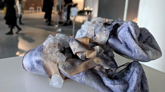 Blood, sweat and accessories: artist recycles bodily fluids for fashion
