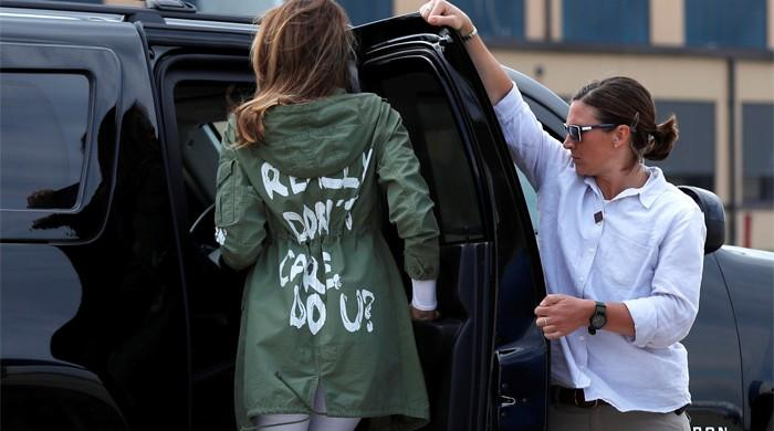 Melania's 'really don't care' jacket stuns on visit to detained immigrant children