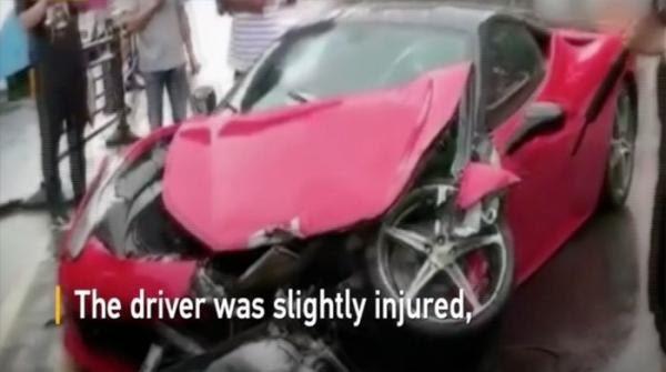 Costliest accident ever? Ferrari crashes into BMW in China