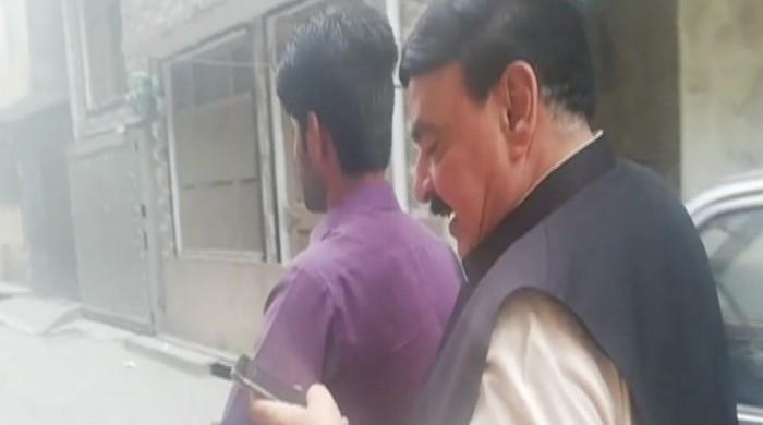 Sheikh Rasheed kicks off election campaign on motorcycle
