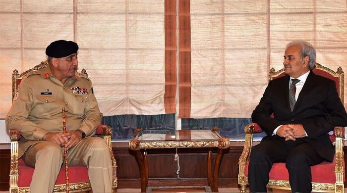 Army Chief Gen Bajwa meets caretaker PM Nasirul Mulk