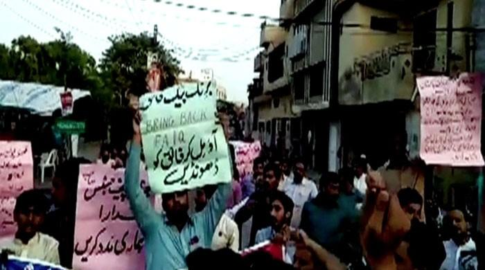 Locals protest disappearance of six-year-old boy in Kasur
