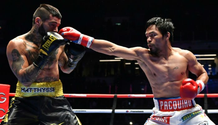 Pacquiao stops Matthysse to win back world title