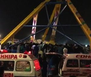Ride in Karachi's amusement park crashes, killing minor, injuring over dozen