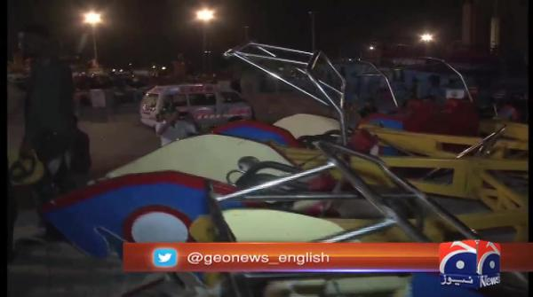 Ride in Karachi's amusement park crashes, killing minor, injuring over dozen