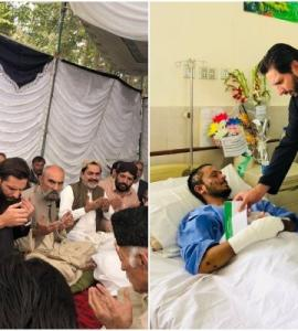 Shahid Afridi visits Quetta, meets people injured in Mastung blast