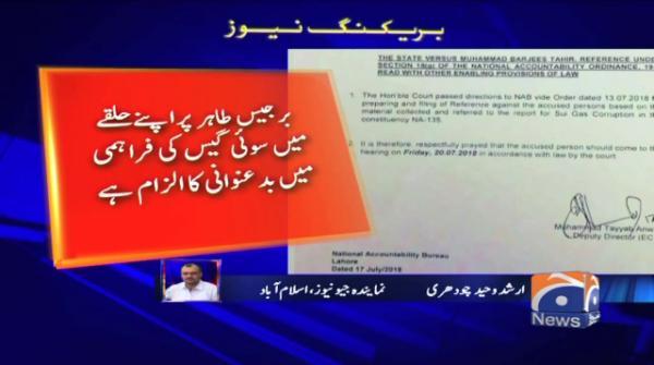 NAB summons PML-N leader Barjees Tahir over corruption charges