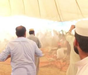 Stage collapses during JI election campaign rally