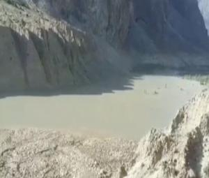Village turns into artificial lake after glacier melts in Gilgit-Baltistan