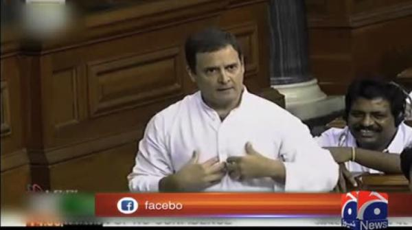 Modi stupefied after Rahul Gandhi gives him a hug in Parliament